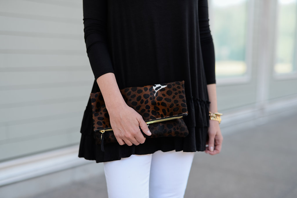 Black Tunic and Must Have White Jeans