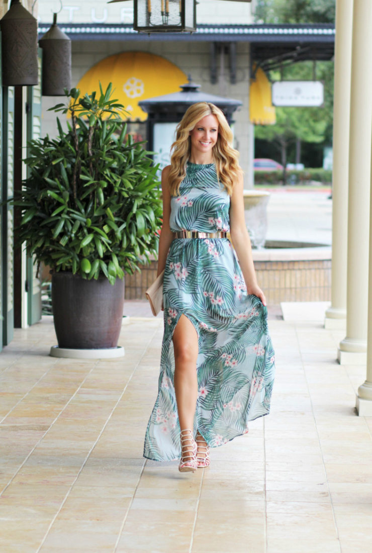 Palm Print Maxi Dress + Trend Spin Linkup
