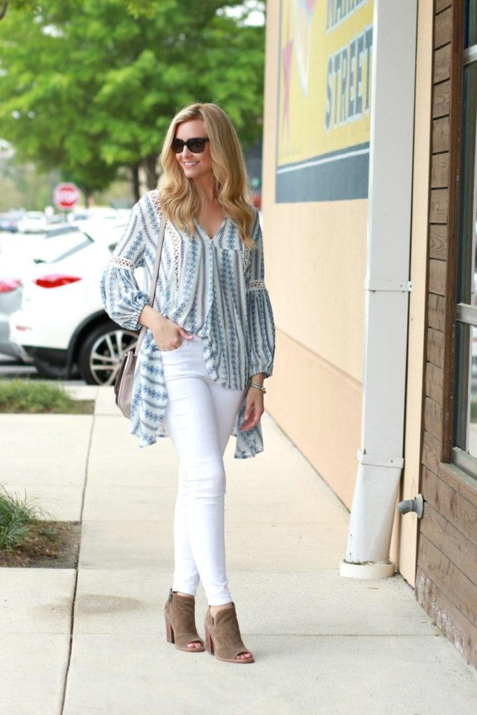 Spring Essentials: Wardrobe Staples and Boho Top by fashion blogger Sara from Haute & Humid
