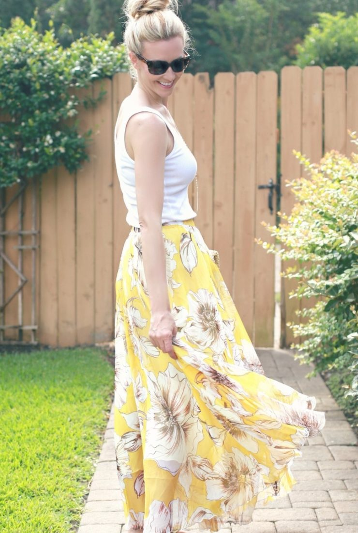 Floral Maxi Skirt and the Tank Top You Need Now