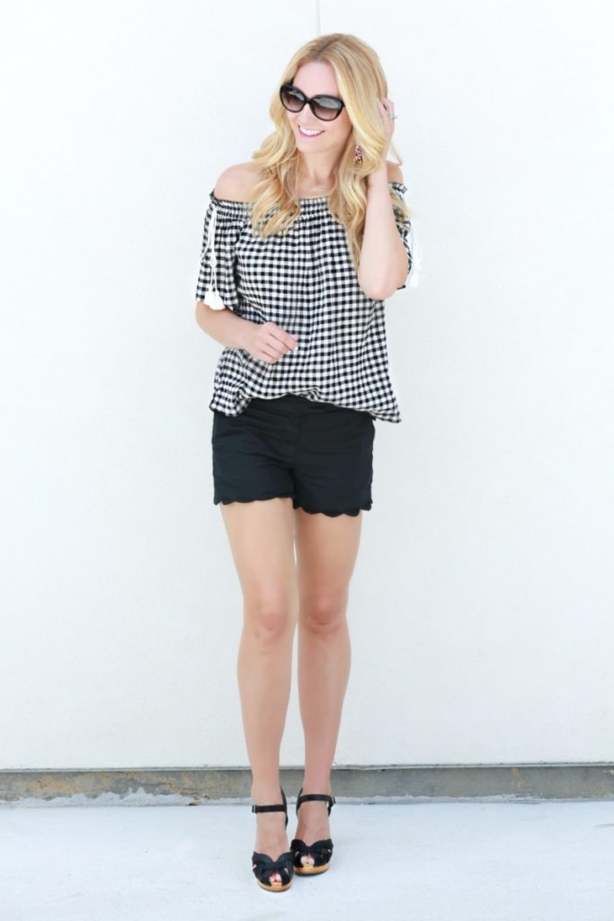 7 Surprising Ways to Style Wooden Clogs and Gingham Top by Houston fashion blogger Sara of Haute & Humid