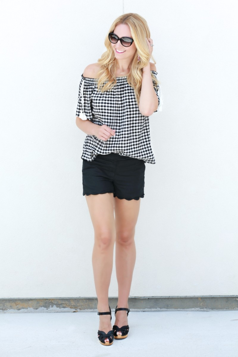 a99c82a0104 7 Surprising Ways to Style Wooden Clogs and Gingham Top by Houston fashion  blogger Sara of