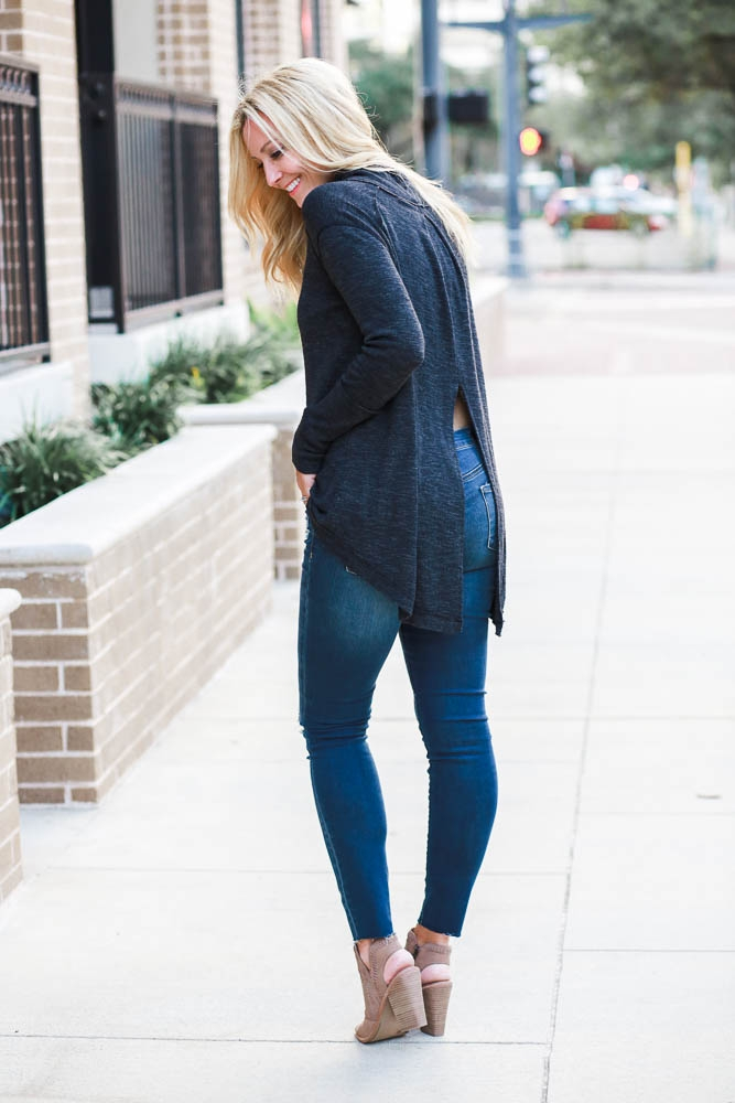 Open Back Sweater + Weekend Sales by Houston fashion blogger Haute & Humid