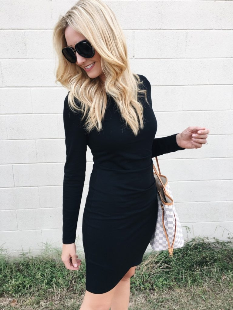fall dress - Must Have Fall Dress Styled 3 Ways by Houston fashion blogger Haute & Humid
