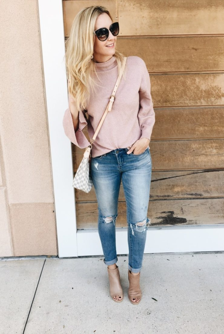Pink Bell Sleeve Sweater & Things I'm Loving Lately
