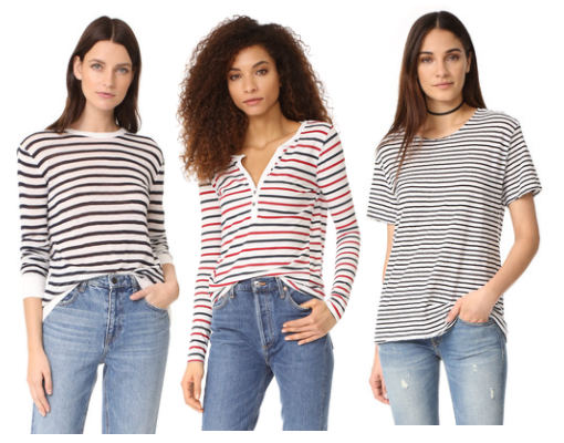shopbop striped tee - Top 5 Favorite Fall Fashion Transitional Pieces From Shopbop by Houston fashion blogger Haute & Humid