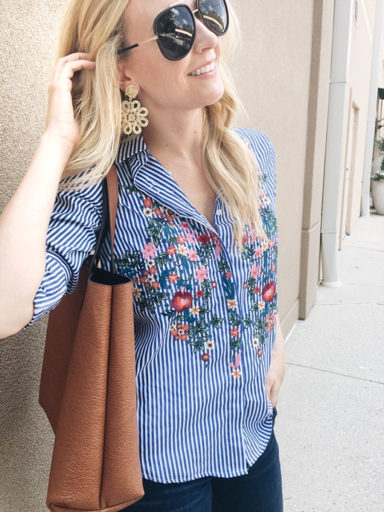 embroidered top - 3 Ways To Be A Good Friend Even When You're Busy by Atlanta fashion blogger Haute & Humid