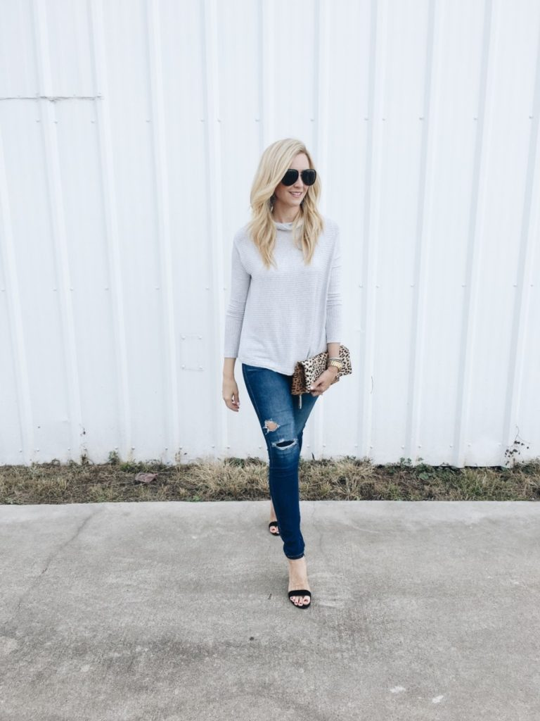 date night - Date Night Outfit: Perfect Peek-A-Boo Back Top by Houston fashion blogger Haute & Humid