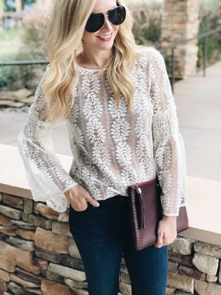 fall trends - Favorite Fall Trends - Bell Sleeves and Lace by Houston fashion blogger Haute & Humid
