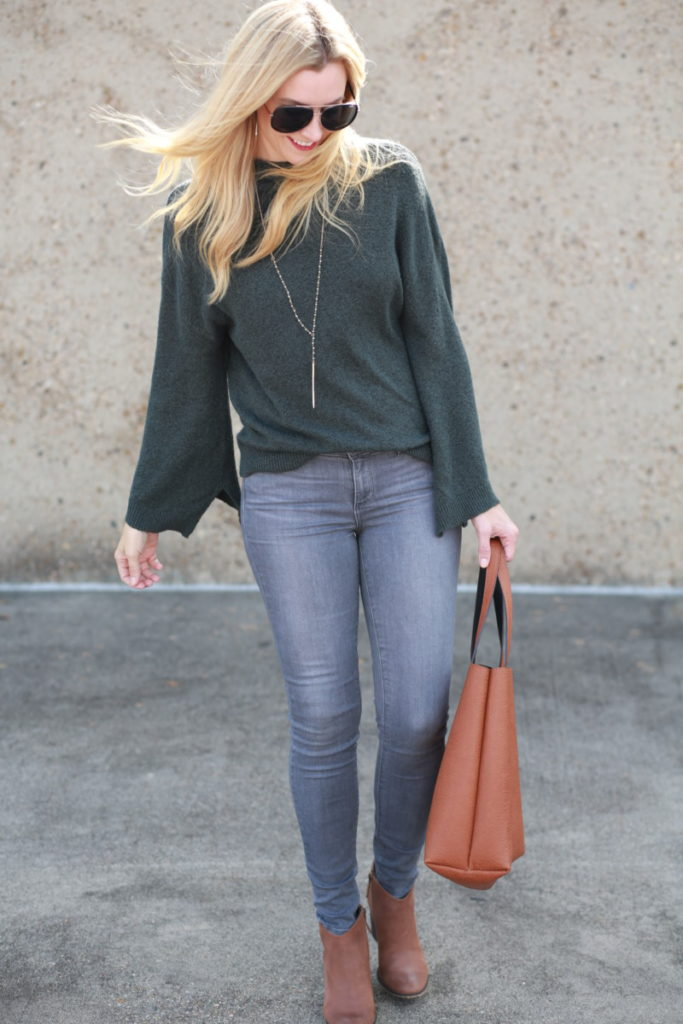 grey denim jeans - 5 Reasons Why You Need Grey Denim Jeans by Houston fashion blogger Haute & humid