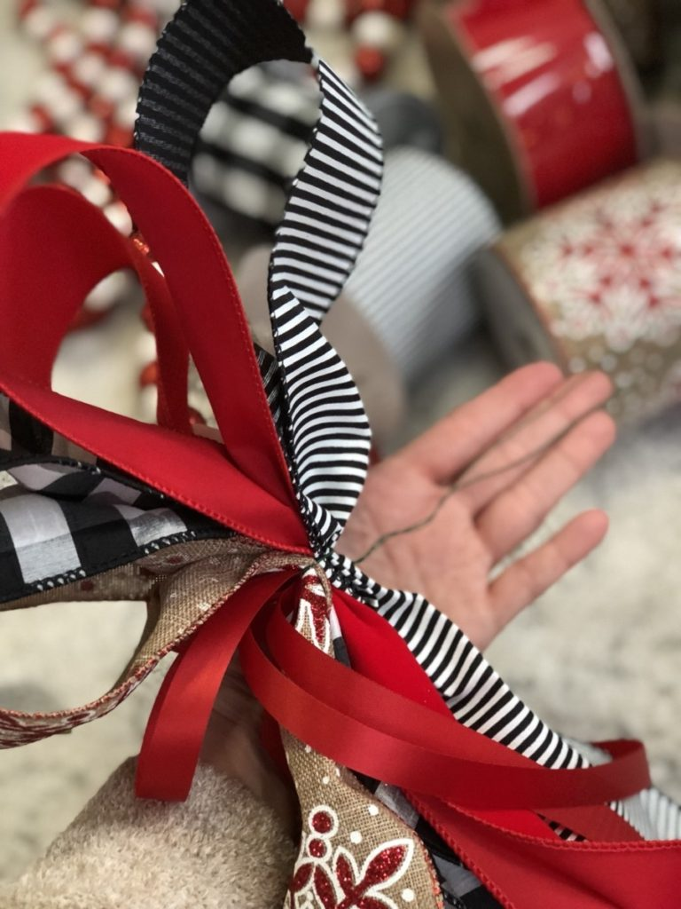 how to make a bow - How To Make A Christmas Ribbon Bow for Your Christmas Tree by Houston lifestyle blogger Haute & Humid