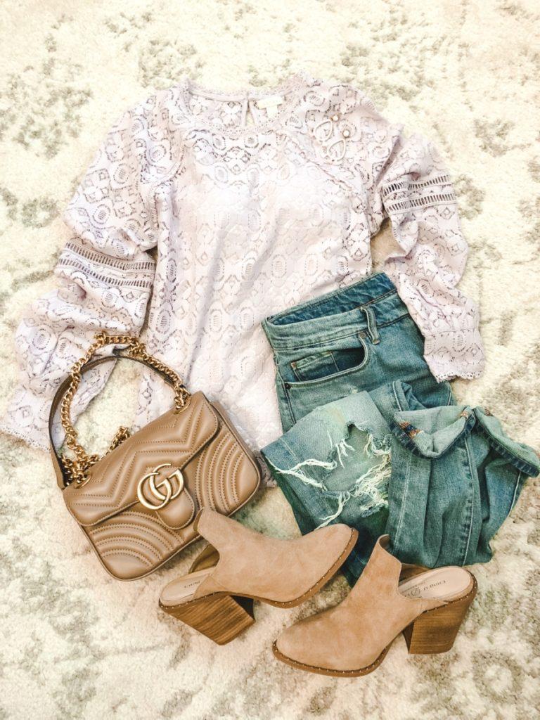 pastel lace top