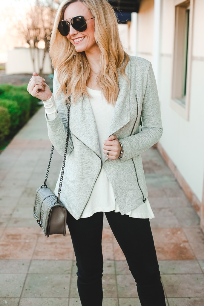 transitional spring jacket by popular Houston fashion blogger Haute & Humid