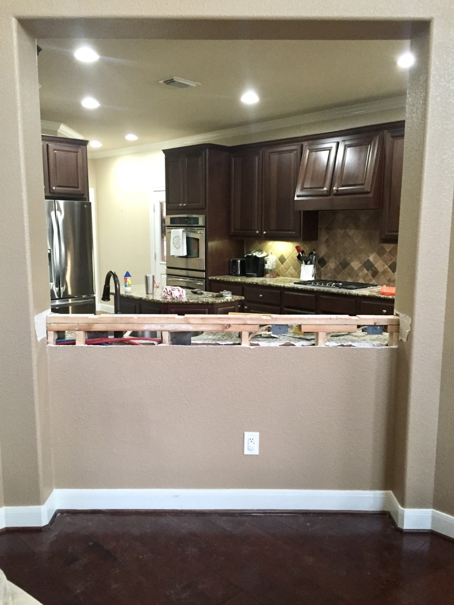 before kitchen remodel - Our Home Improvement Update by popular Houston lifestyle blogger Haute & Humid