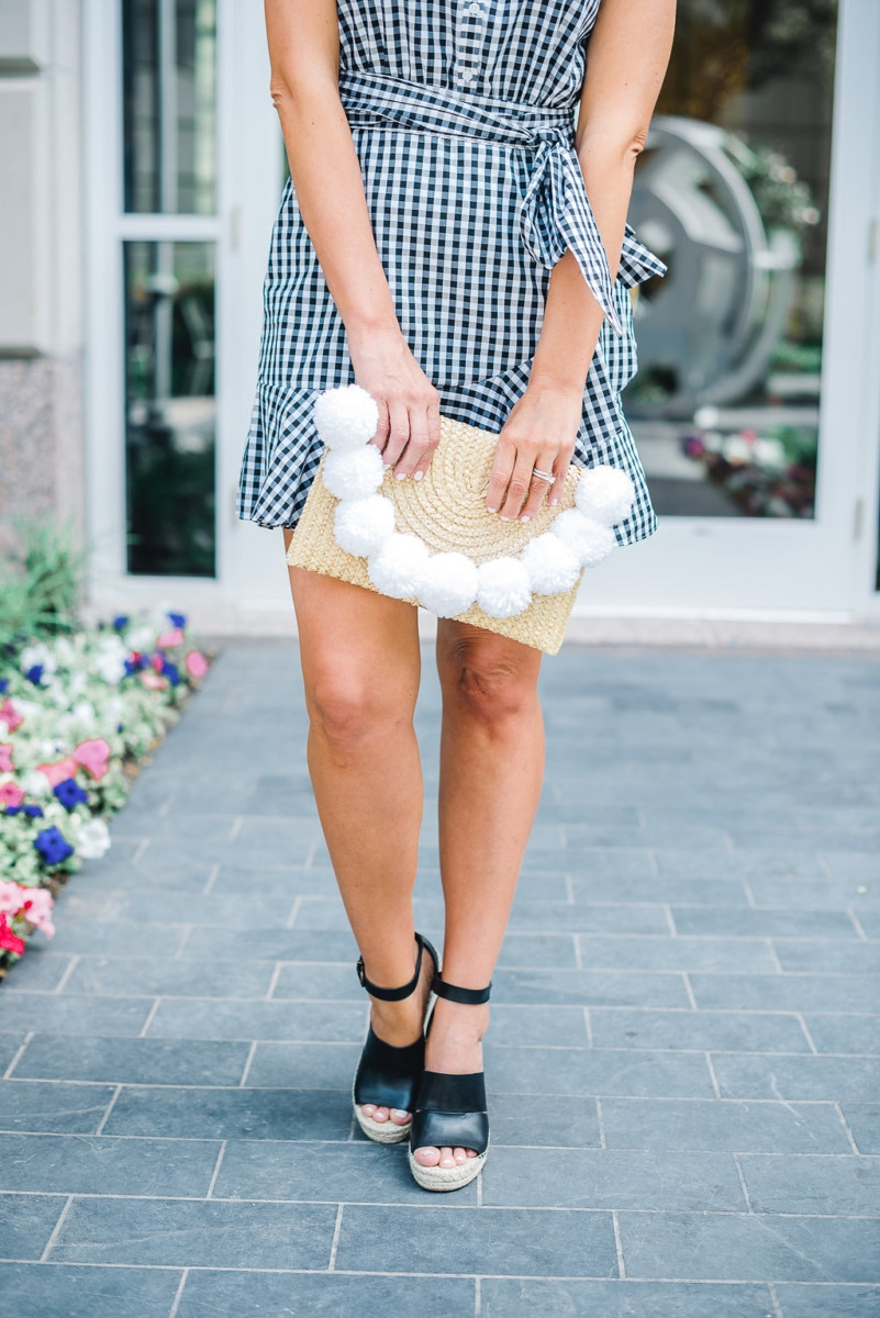 Black And White Gingham Dress styled by popular Houston fashion blogger, Haute & Humid