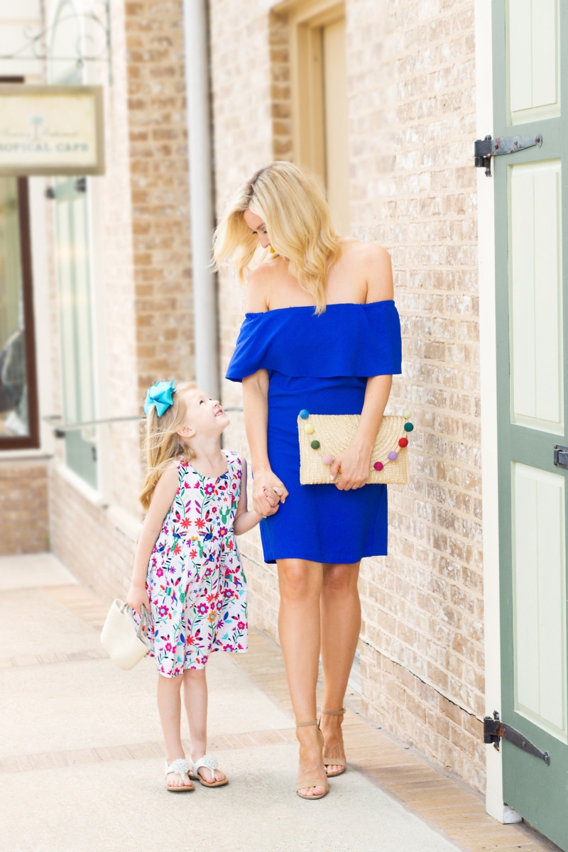 mommy daughter look - Mommy Daughter Coordinating Dresses by popular Houston fashion blogger Haute & Humid