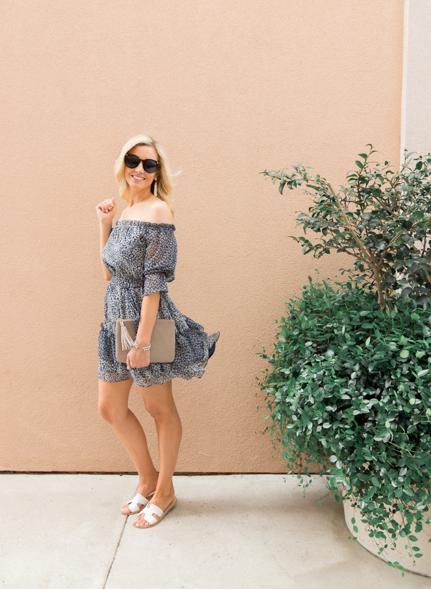 floral spring dress style by popular Houston fashion blogger Haute & humid