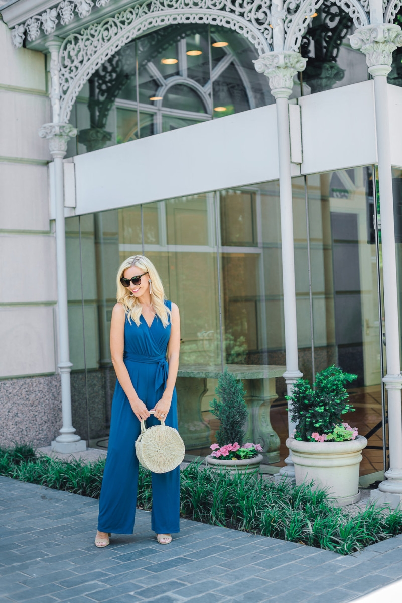 dress alternative - My Favorite Dress Alternative-The Blue Jumpsuit featured by popular Houston fashion blogger, Haute & Humid