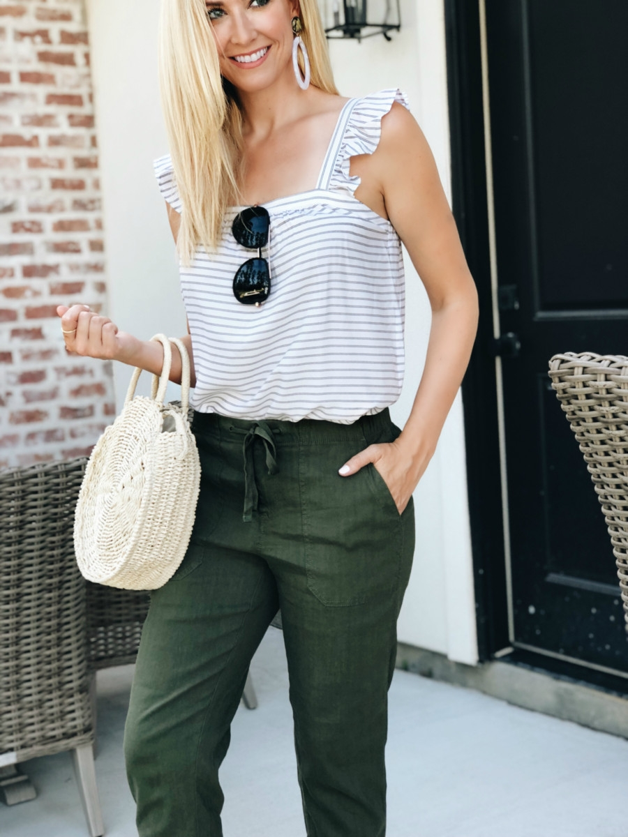linen pants - 3 Alternatives To Summer Shorts featured by popular Houston fashion blogger, Haute & Humid