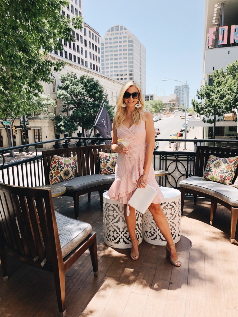 Seersucker Dresses For Summer featured by popular Houston fashion blogger, Haute & Humid