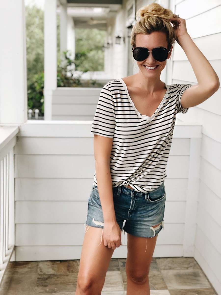 striped tee - 15 Nordstrom Anniversary Sale Favorites $50 or Less featured by popular Houston style blogger Haute & Humid