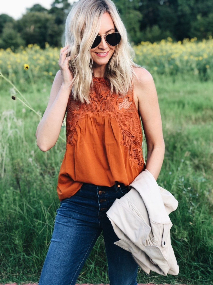fall top - Top 10 Best Purchases: August featured by popular Houston fashion blogger, Haute & Humid