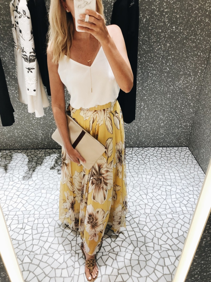 floral maxi skirt - Top 10 Best Purchases: August featured by popular Houston fashion blogger, Haute & Humid