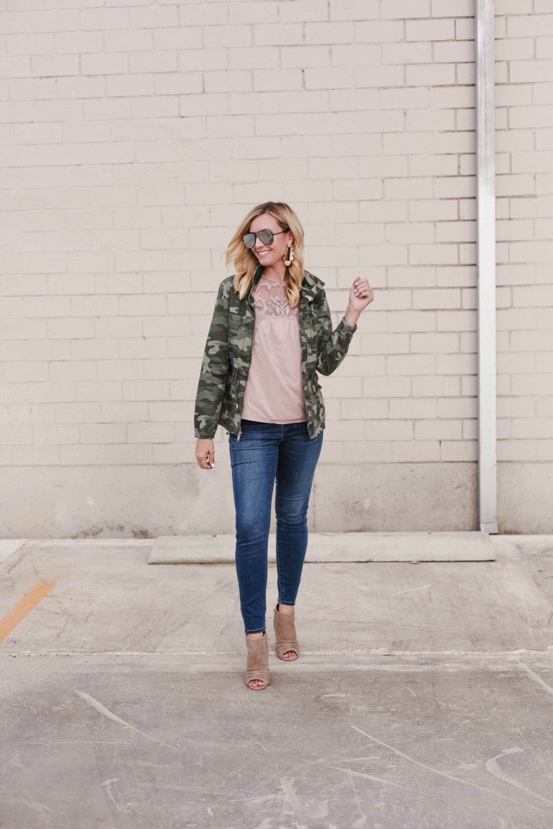 Old Navy | Fall Fashion | 5 Ways To Style A Camo Jacket featured by top Houston fashion blog Haute & Humid