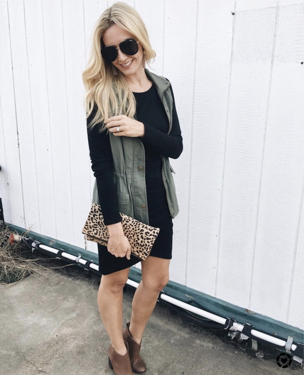 black dress | Instagram | Amazon | Nordstrom | Madewell | Hunters | Gucci | Chanel | Fall Fashion: Instagram Roundup featured by top Houston fashion blog Haute & Humid
