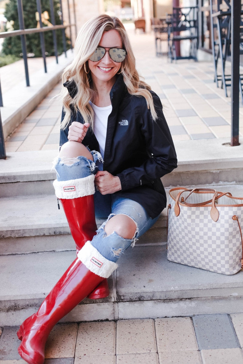 hunter boots | Fashion | Fall | Shopping | How To Score Your Favorite North Face Jacket on Ebay featured by top Houston fashion blog Haute & Humid