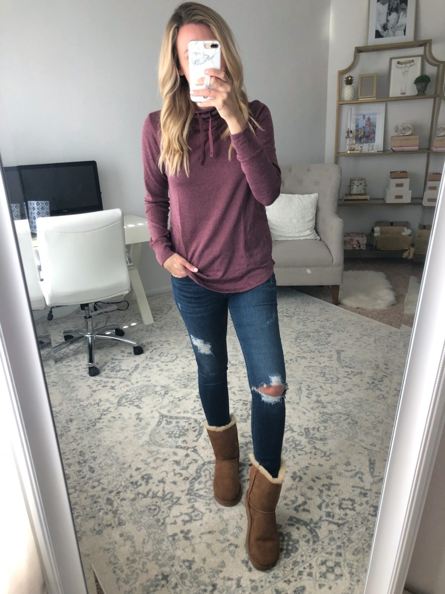brown ugg boots | Old Navy Fall Favorites Sale Round Up featured by top Houston fashion blog Haute & Humid